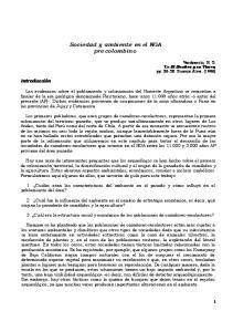 Sociedad y ambiente en el NOA pre colombino