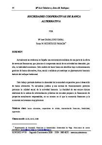 SOCIEDADES COOPERATIVAS DE BANCA ALTERNATIVA