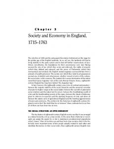 Society and Economy in England,