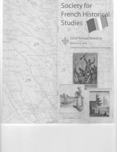 Society for French Histor' Studies