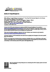 Society for Range Management