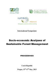 Socio-economic Analyses of Sustainable Forest Management
