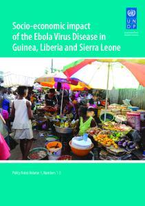 Socio-economic impact of the Ebola Virus Disease in Guinea, Liberia and Sierra Leone