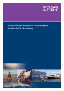 Socio-economic indicators of marine-related activities in the UK economy