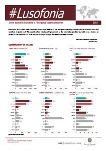Socio-economic indicators of Portuguese-speaking countries 2013