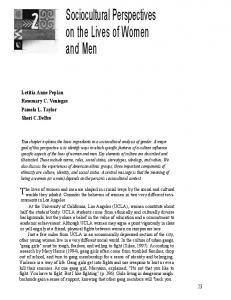 Sociocultural Perspectives on the Lives of Women and Men