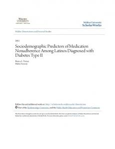 Sociodemographic Predictors of Medication Nonadherence Among Latinos Diagnosed with Diabetes Type II