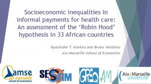 Socioeconomic inequalities in informal payments for health care: An assessment of the Robin Hood hypothesis in 33 African countries