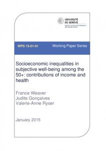 Socioeconomic inequalities in subjective well-being among the 50+: contributions of income and health
