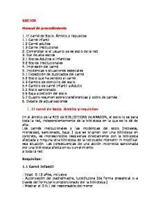 SOCIOS. Manual de procedimiento