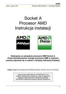 Socket A Procesor AMD Instrukcja instalacji