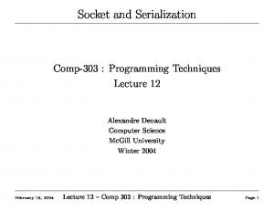 Socket and Serialization