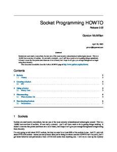 Socket Programming HOWTO