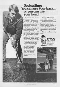 Sod cutting: H>U can use your back or you can use your head