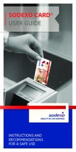 SODEXO CARD USER GUIDE