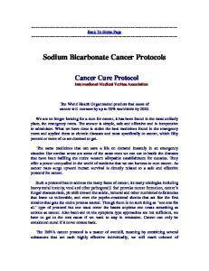 Sodium Bicarbonate Cancer Protocols