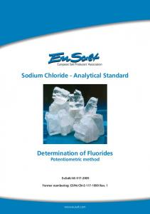 Sodium Chloride - Analytical Standard