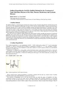 Sodium Hypochlorite (NaClO): Ruffini Method for the Treatment of Topic Infectious Diseases of the Skin, Mucous Membranes and Systemic Diseases