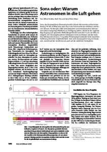 SOFIA oder: Warum Astronomen in die Luft gehen