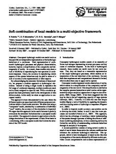 Soft combination of local models in a multi-objective framework