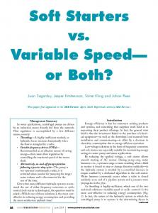 Soft Starters vs. Variable Speed or Both?