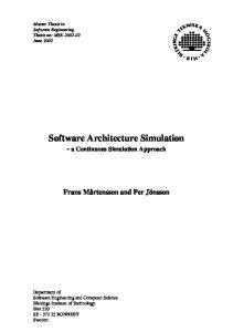Software Architecture Simulation