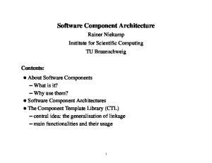 Software Component Architecture