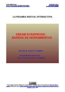 Software de la pizarra ebeam: Scrapbook-Barras de herramientas. LA PIZARRA DIGITAL INTERACTIVA