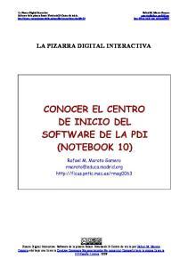 Software de la pizarra Smart: Notebook10-Centro de inicio. LA PIZARRA DIGITAL INTERACTIVA