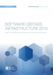 SOFTWARE-DEFINED INFRASTRUCTURE 2016