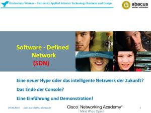 Software - Defined Network (SDN)