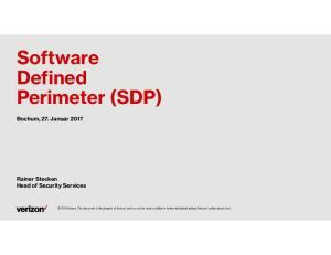 Software Defined Perimeter (SDP)