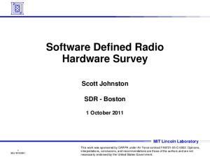 Software Defined Radio Hardware Survey