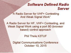 Software Defined Radio Server