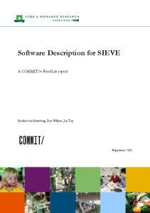 Software Description for SIEVE