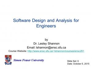Software Design and Analysis for Engineers