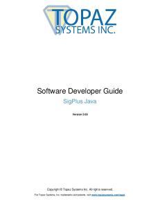 Software Developer Guide