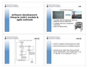 software development lifecycle (sdlc) models & agile methods