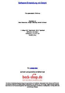 Software-Entwicklung mit Delphi