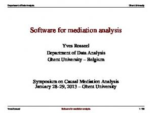 Software for mediation analysis