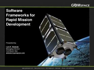 Software Frameworks for Rapid Mission Development