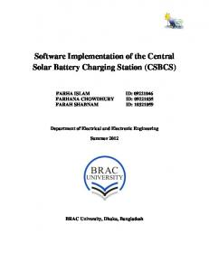 Software Implementation of the Central Solar Battery Charging Station (CSBCS)