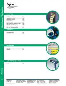 Software PRINTERS RIBBONS SOFTWARE APPLICATION SYSTEMS