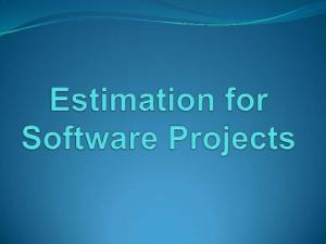 Software project management begins with a set of activities that are collectively called project planning