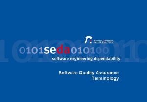 Software Quality Assurance Terminology