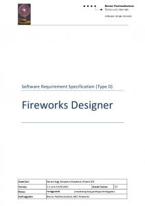 Software Requirement Specification (Type D) Fireworks Designer