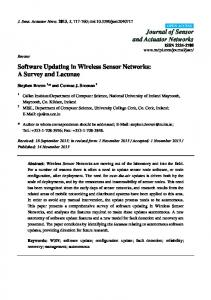 Software Updating in Wireless Sensor Networks: A Survey and Lacunae