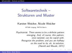 Softwaretechnik Strukturen und Muster