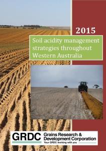 Soil acidity management strategies throughout Western Australia