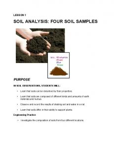 SOIL ANALYSIS: FOUR SOIL SAMPLES